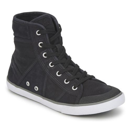 Chaussures Femme Baskets montantes TBS VELUTA Noir