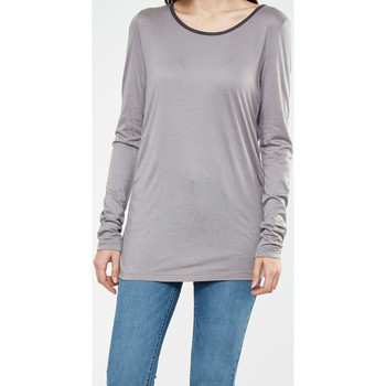 Vêtements Femme T-shirts manches longues Yaya Tee Shirt Ml Jersey Col Rond  Taupe Taupe