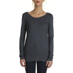 Vêtements Femme T-shirts manches longues Yaya Tee Shirt Ml Jersey Col Rond  Gris Fonce Gris