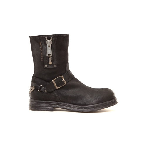 Chaussures Femme Bottines Replay Bottines en cuir Ecle noir Noir