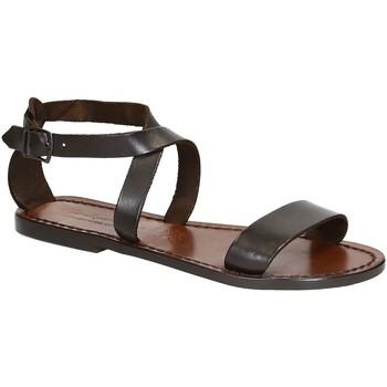 Chaussures Femme Sandales et Nu-pieds Gianluca - L'artigiano Del Cuoio 509 D MORO CUOIO Testa di Moro