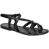 Chaussures Femme Sandales et Nu-pieds Gianluca - L'artigiano Del Cuoio 530 D NERO CUOIO nero
