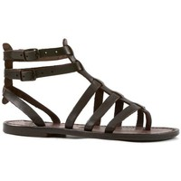 Chaussures Femme Sandales et Nu-pieds Gianluca - L'artigiano Del Cuoio 506 D MORO CUOIO Testa di Moro