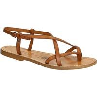 Chaussures Femme Sandales et Nu-pieds Gianluca - L'artigiano Del Cuoio 537 D CUOIO CUOIO Cuoio