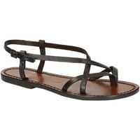 Chaussures Femme Sandales et Nu-pieds Gianluca - L'artigiano Del Cuoio 537 D MORO CUOIO Testa di Moro