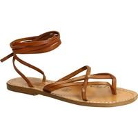 Chaussures Femme Sandales et Nu-pieds Gianluca - L'artigiano Del Cuoio 514 D CUOIO CUOIO Cuoio