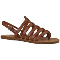Chaussures Femme Sandales et Nu-pieds Gianluca - L'artigiano Del Cuoio 576 D CUOIO CUOIO Cuoio