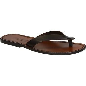 Chaussures Homme Tongs Gianluca - L'artigiano Del Cuoio 541 U MORO CUOIO Testa di Moro