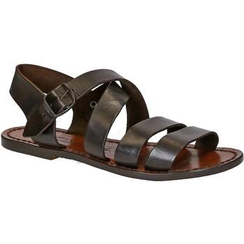 Chaussures Femme Sandales et Nu-pieds Gianluca - L'artigiano Del Cuoio 508 D MORO CUOIO Testa di Moro