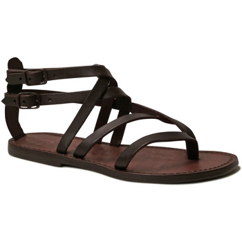 Chaussures Femme Sandales et Nu-pieds Gianluca - L'artigiano Del Cuoio 574 D MORO CUOIO Testa di Moro