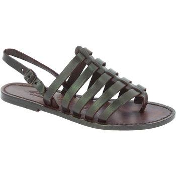 Chaussures Femme Sandales et Nu-pieds Gianluca - L'artigiano Del Cuoio 576 D MORO CUOIO Testa di Moro