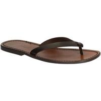 Chaussures Homme Tongs Gianluca - L'artigiano Del Cuoio 540 U MORO CUOIO Testa di Moro