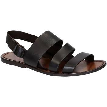 Chaussures Homme Sandales et Nu-pieds Gianluca - L'artigiano Del Cuoio 507 U MORO CUOIO Testa di Moro