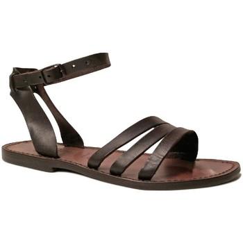 Chaussures Femme Sandales et Nu-pieds Gianluca - L'artigiano Del Cuoio 583 D MORO CUOIO Testa di Moro