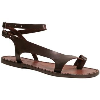 Chaussures Femme Sandales et Nu-pieds Gianluca - L'artigiano Del Cuoio 526 D MORO CUOIO Testa di Moro