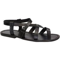 Chaussures Homme Sandales et Nu-pieds Gianluca - L'artigiano Del Cuoio 530 U NERO CUOIO nero