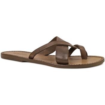Chaussures Femme Sandales et Nu-pieds Gianluca - L'artigiano Del Cuoio 545 D FANGO CUOIO Fango