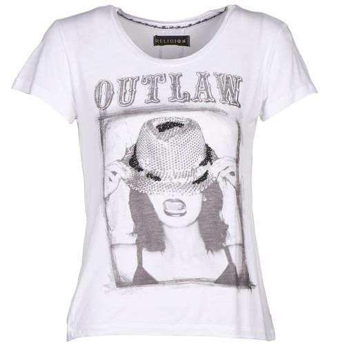 Vêtements Femme T-shirts manches courtes Religion B123OLT45 Blanc