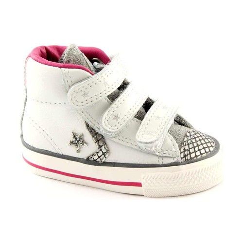 Chaussures Enfant Chaussons bébés Converse CON-746384C-WH Bianco