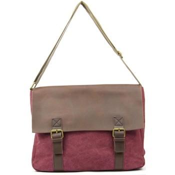 Sacs Bandoulière Oh My Bag Sac à main femme CUIR et TOILE - Modèle CANCUN bordeaux