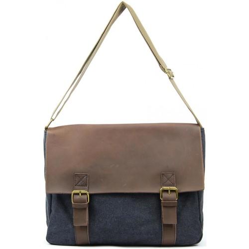 Sacs Femme Sacs Bandoulière Oh My Bag Sac à main femme CUIR et TOILE - Modèle CANCUN noir NOIR
