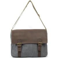 Sacs Bandoulière Oh My Bag Sac à main femme CUIR et TOILE - Modèle CANCUN gris