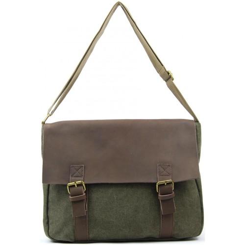 Sacs Femme Sacs Bandoulière Oh My Bag Sac à main femme CUIR et TOILE - Modèle CANCUN olive OLIVE