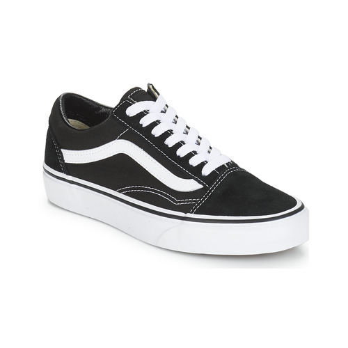Chaussures Baskets basses Vans OLD SKOOL Noir / Blanc
