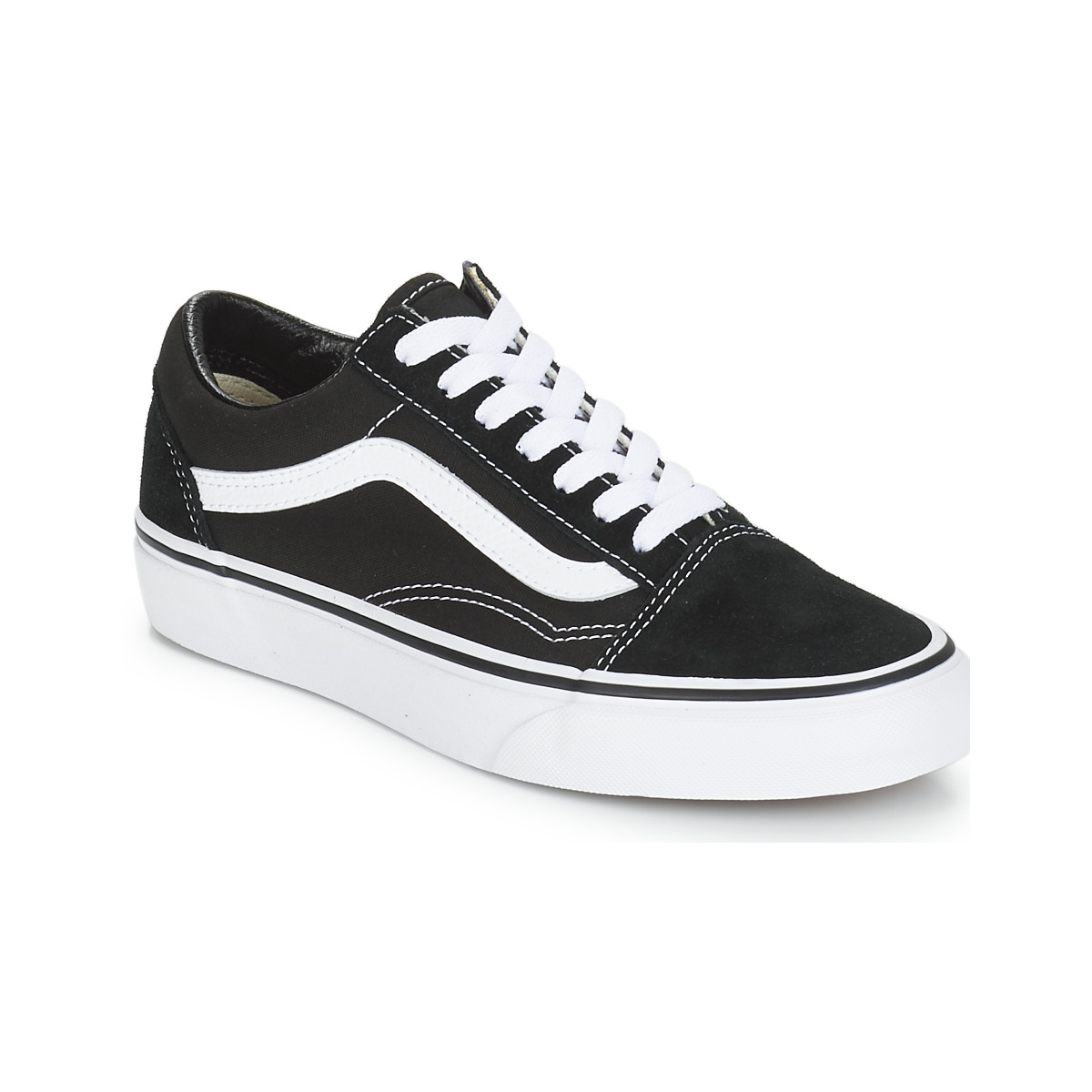 vans old skool blanche noir. Black Bedroom Furniture Sets. Home Design Ideas