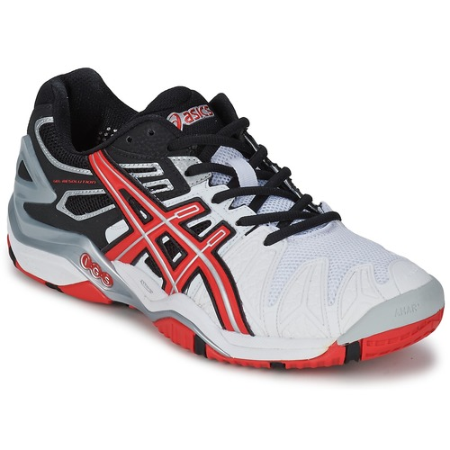 Chaussures Homme Tennis Asics GEL-RESOLUTION Blanc / Rouge / Noir