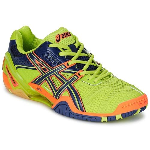 Chaussures Homme Sport Indoor Asics GEL-BLAST 5 Vert / Bleu / Orange