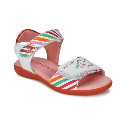 Chaussures Fille Sandales et Nu-pieds Agatha Ruiz de la Prada CAZOLETA Blanc / Multicolore