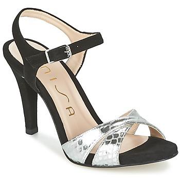 Sandale Unisa WARIAN Noir / Argent 350x350