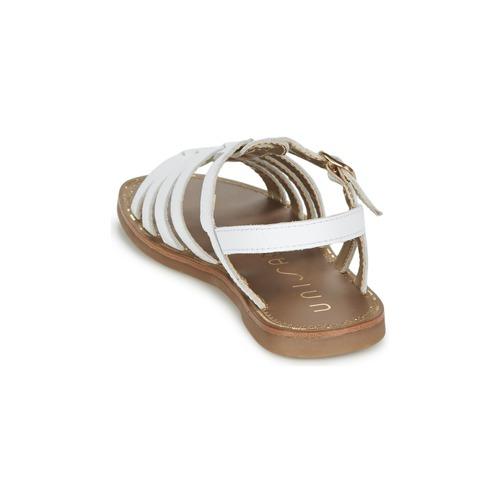 Yoleta Femme Blanc pieds Unisa Sandales Nu Et Chaussures nOkPw0