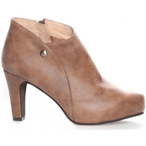 Chaussures Femme Bottines LPB Shoes Les Petites Bombes Bottines Alienor taupe Marron