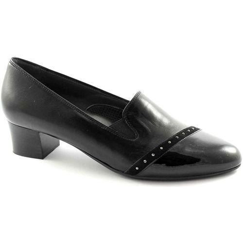 Chaussures Femme Ballerines / babies Melluso X5304 chaussures noires femme de confort verticale élastique Nero