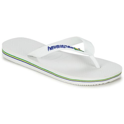 Chaussures Enfant Tongs Havaianas BRASIL LOGO Blanc