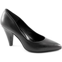 Chaussures Femme Escarpins Malù MAL 8200 chaussures à talons en cuir noir femme decollet Nero