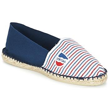 Chaussures Espadrilles 1789 Cala CLASSIQUE BICOLORE Bleu / Blanc / Rouge