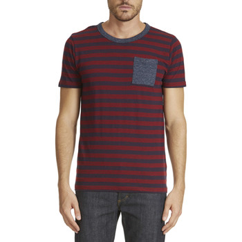 Vêtements Homme T-shirts manches courtes Selected Tee Shirt Mc Free  Marine Rouge Marine