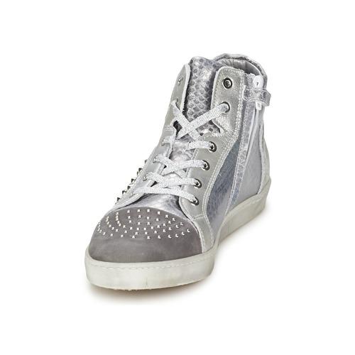 Baskets Hip Silver croco Femme Montantes 90cr Chaussures 4qAL35Rj
