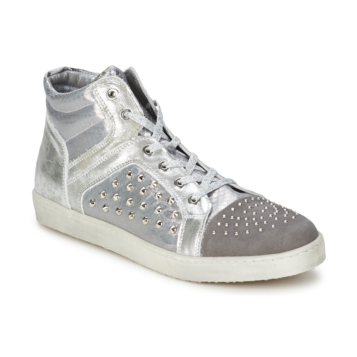 Basket montante Hip 90CR SILVER-CROCO