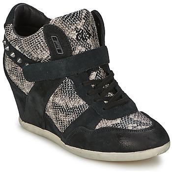 Chaussures Femme Baskets montantes Ash BISOU noir/python