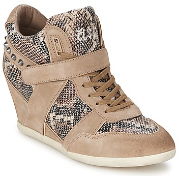 Chaussures Femme Baskets montantes Ash BISOU taupe/python
