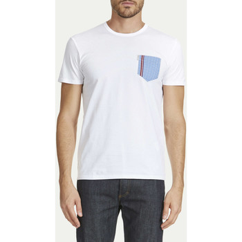 Vêtements Homme T-shirts manches courtes Ben Sherman Tee Mc Col Rond One Pocket Gingham (vichy)  Blanc Blanc