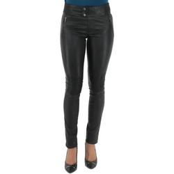 Vêtements Femme Chinos / Carrots Pallas Cuir Pantalon  sélection en cuir ref_sof37618-noir noir