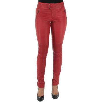 Vêtements Pantalons Pallas Cuir Pantalon  sélection en cuir ref_sof37618-rouge rouge