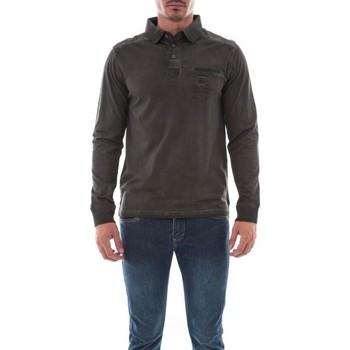 Vêtements Homme Polos manches longues Ritchie POLO PANATUA Gris foncé
