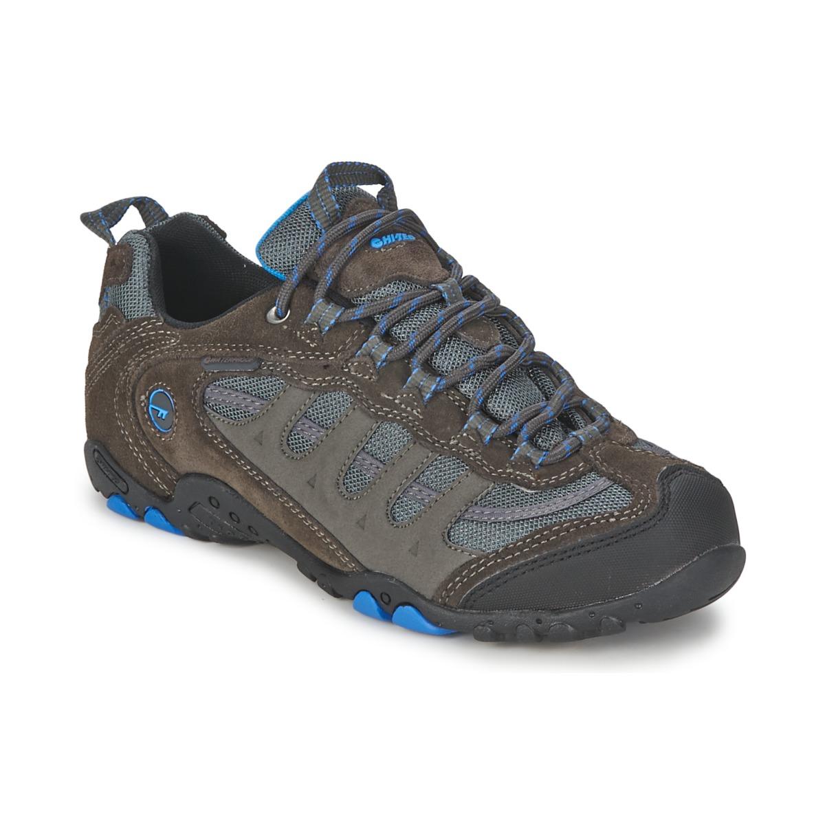 Chaussures-de-randonnee Hi-Tec PENRITH LOW WP Charbon / Bleu