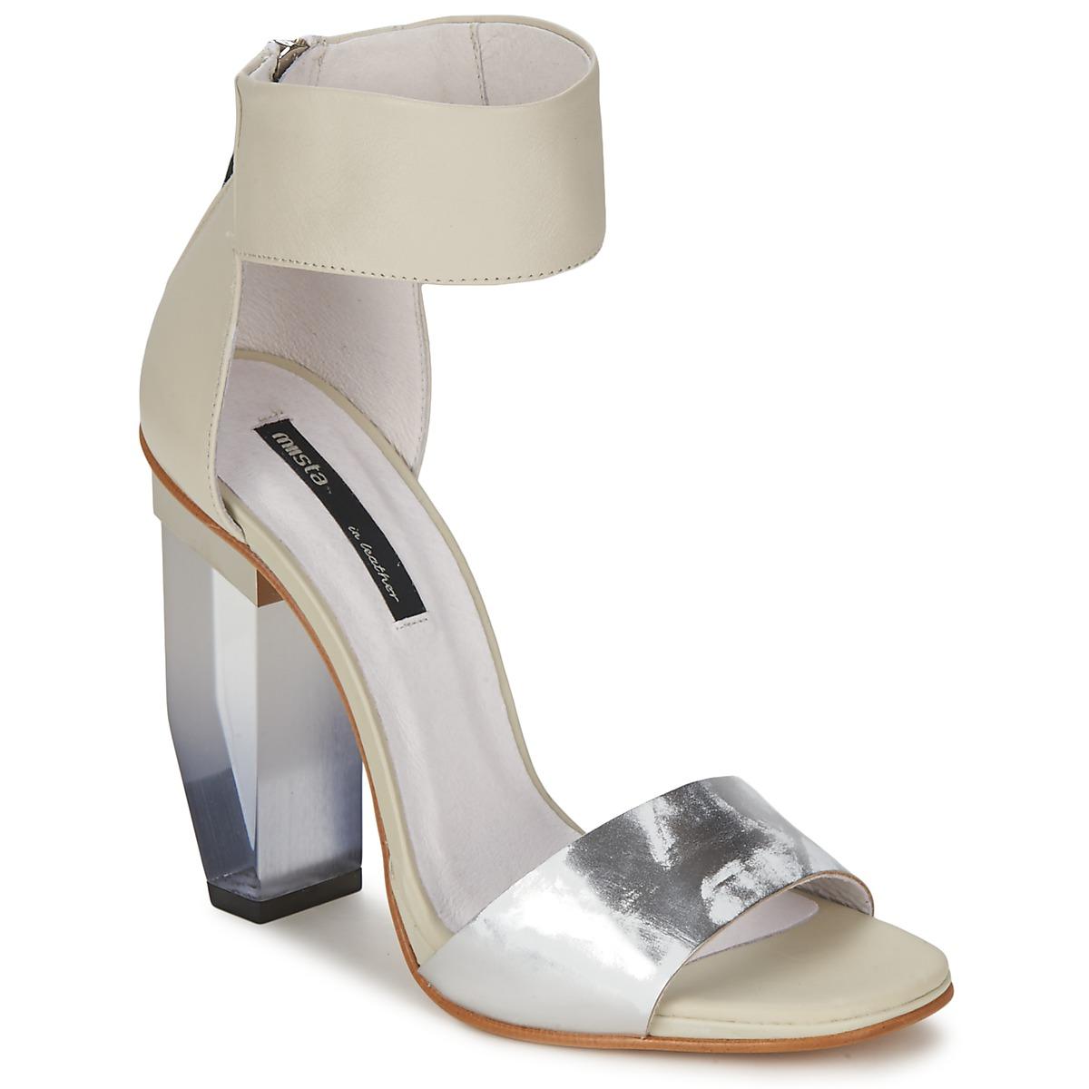 Sandale Miista JAYDA Blanc / Argent